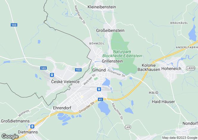 Map for Niederösterreich, Gmünd, Gmünd, Austria