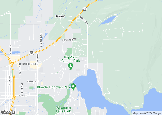 Map for Washington, Whatcom County, Bellingham