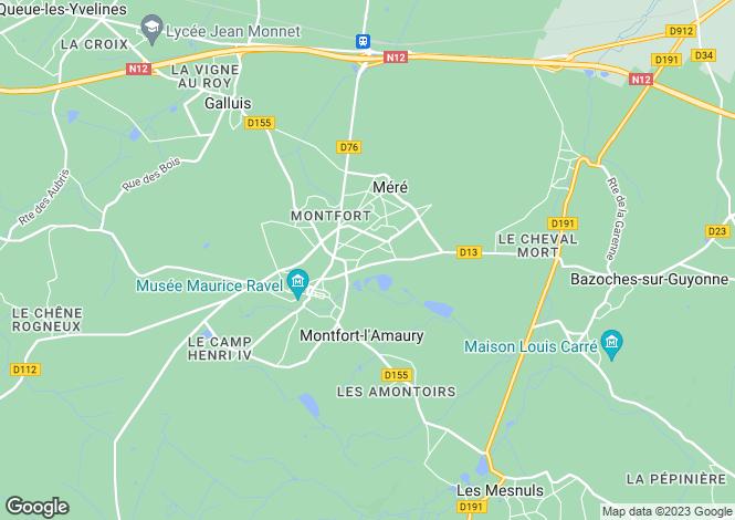 Map for montfort-l-amaury, Yvelines, France