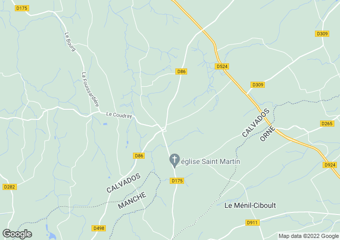 Map for Normandy, Calvados, near Truttemer le Grand