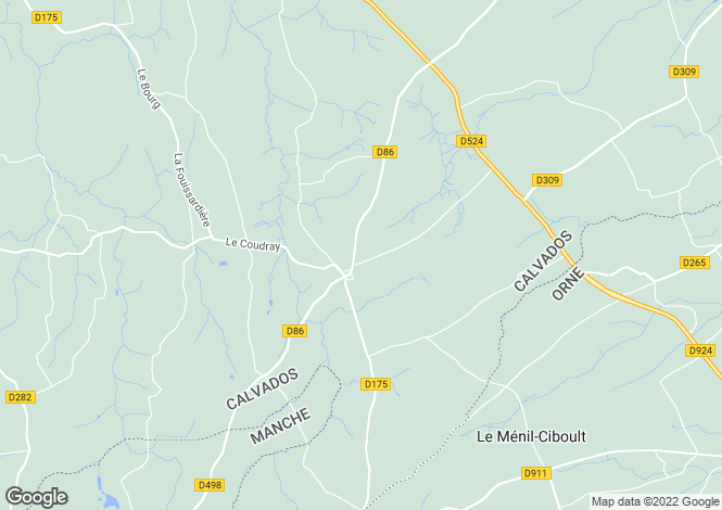 Map for Normandy, Calvados, Truttemer le Grand