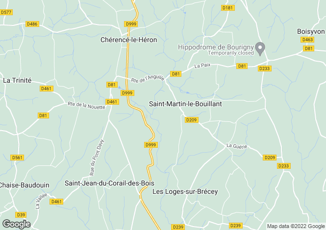 Map for St-Martin-le-Bouillant, Manche, Normandy