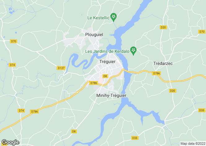 Map for MINIHY TREGUIER,
