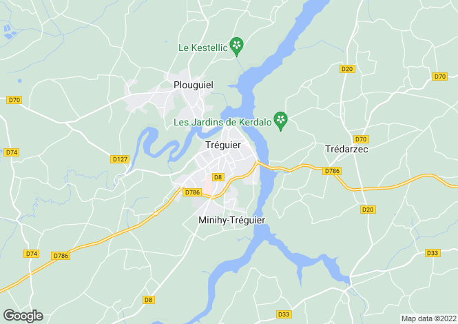Map for TREGUIER, Bretagne