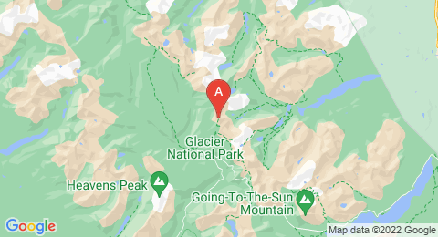map of Swiftcurrent Mountain (United States of America)