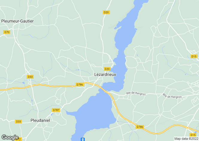Map for LEZARDRIEUX, Bretagne