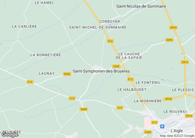 Map for Normandy, Orne, St-Symphorien-des-Bruyères