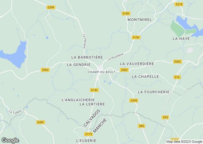 Map for Champ-Du-Boult, Basse-Normandie, 14380, France