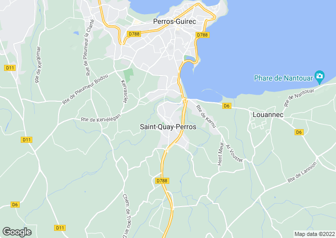 Map for St-Quay-Perros, Côtes-d`Armor, Brittany