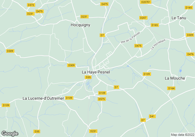 Map for La Haye-Pesnel, Manche, Normandy