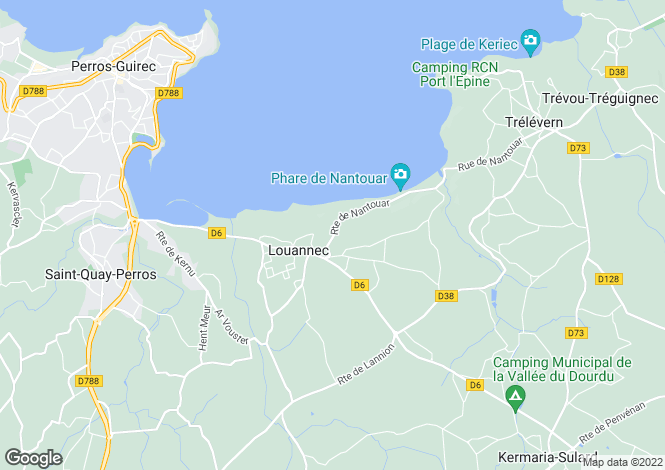Map for Brittany, Côtes-d'Armor, Louannec