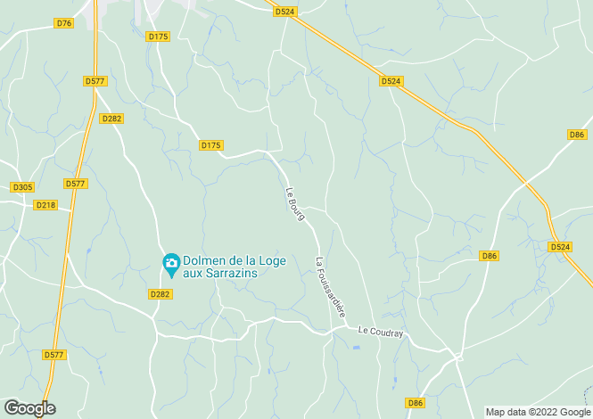 Map for Normandy, Calvados, Maisoncelles-la-Jourdan