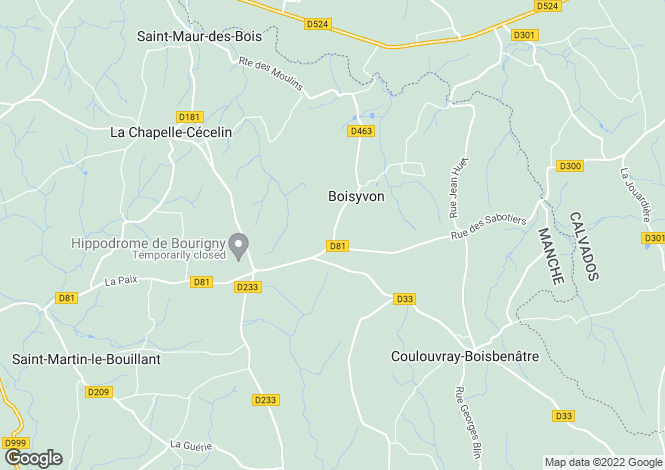 Map for Boisyvon, Manche, Normandy