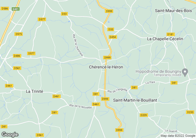 Map for Normandy, Manche, Cherence le Heron
