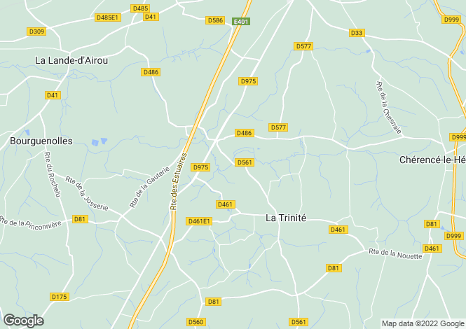 Map for Normandy, Manche, Rouffigny
