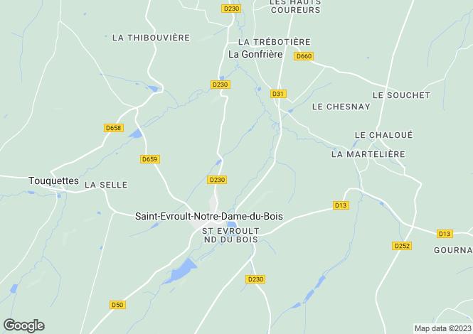 Map for Normandy, Orne, St-Evroult-Notre-Dame-du-Bois