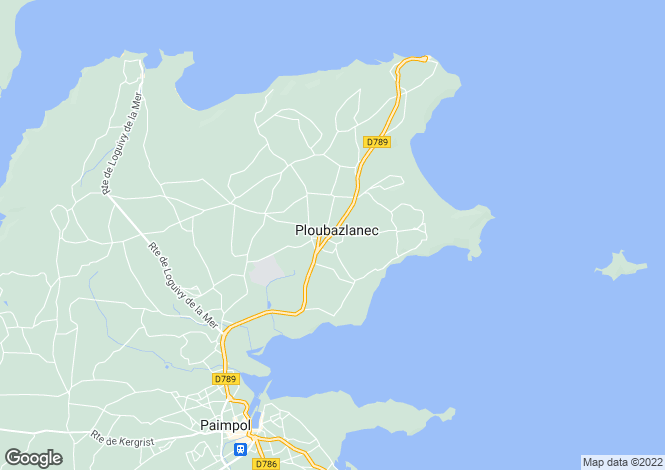 Map for PLOUBAZLANEC, Bretagne