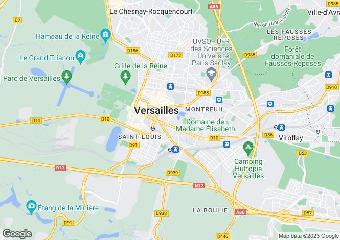 Map for VERSAILLES, Île-de-France