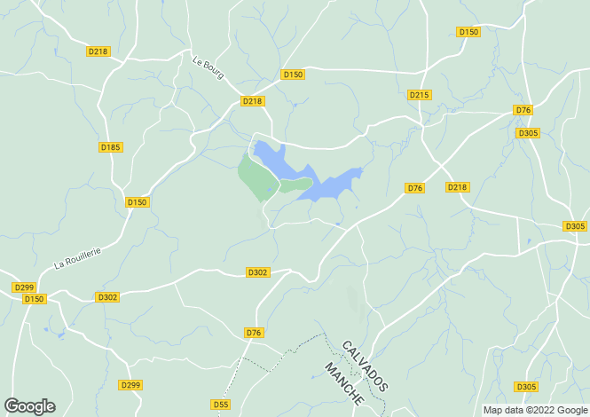 Map for Vire, Calvados, Normandy