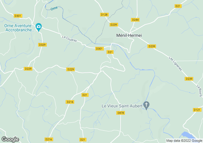 Map for la-foret-auvray, Orne, France