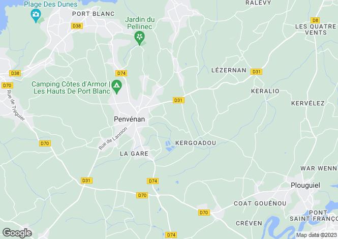 Map for PENVENAN,
