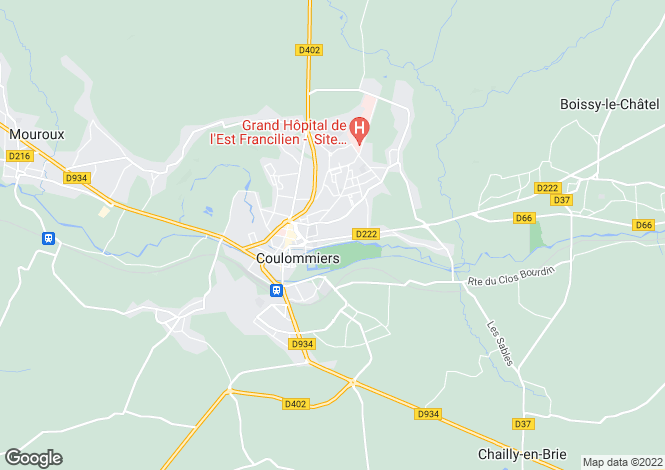 Map for Coulommiers, Île-de-France