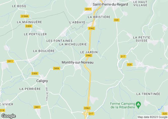 Map for conde-sur-noireau, Orne, France