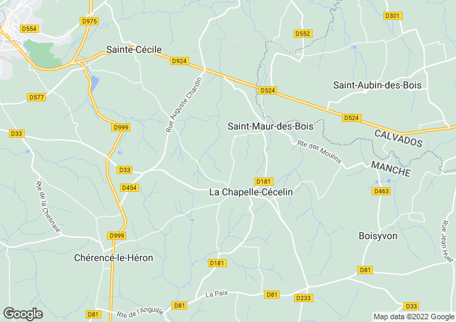Map for La Chapelle-Cécelin ,Normandy ,France