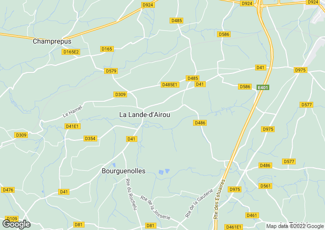 Map for La Lande-d`Airou, Manche, Normandy