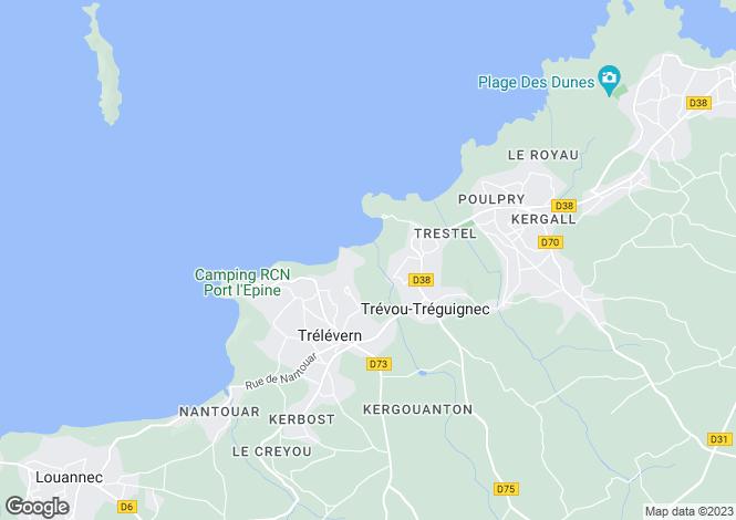 Map for Brittany, Côtes-d'Armor, Trélévern