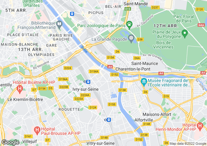 Map for IVRY-SUR-SEINE