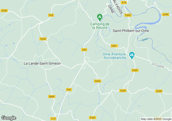 Map for segrie-fontaine, Orne, France
