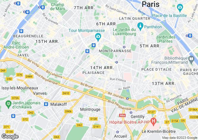 Map for Paris-Isle of France, Paris, Paris 14