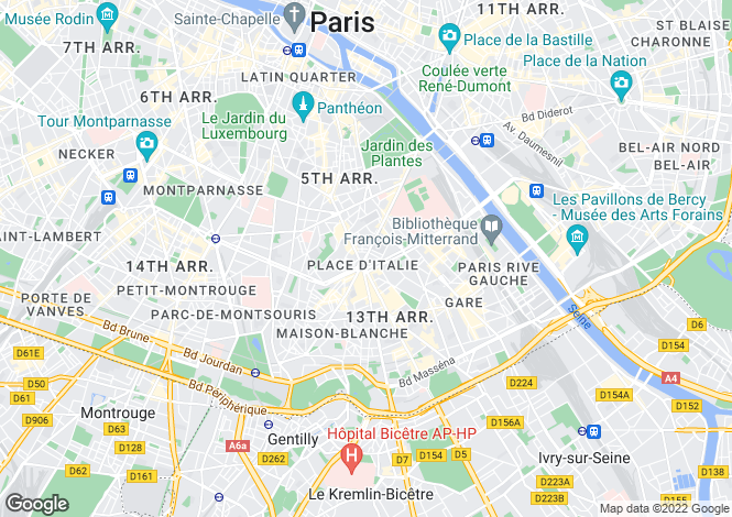 Map for Paris-Isle of France, Paris, Paris 13
