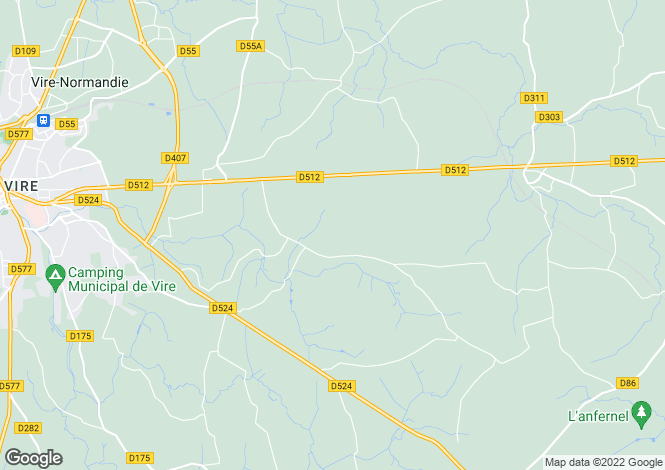 Map for Normandy, Calvados, Roullours