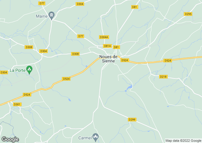 Map for Normandy, Calvados, Saint Sever Calvados