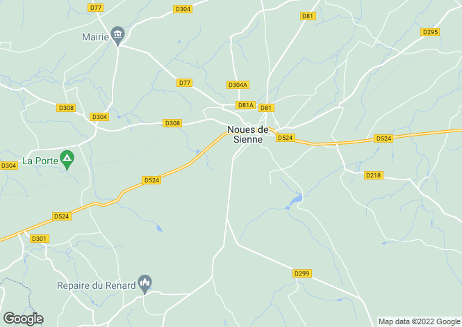 Map for Normandy, Calvados, near Saint Sever Calvados