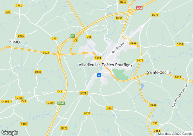 Map for VILLEDIEU LES POELES, 50420, France
