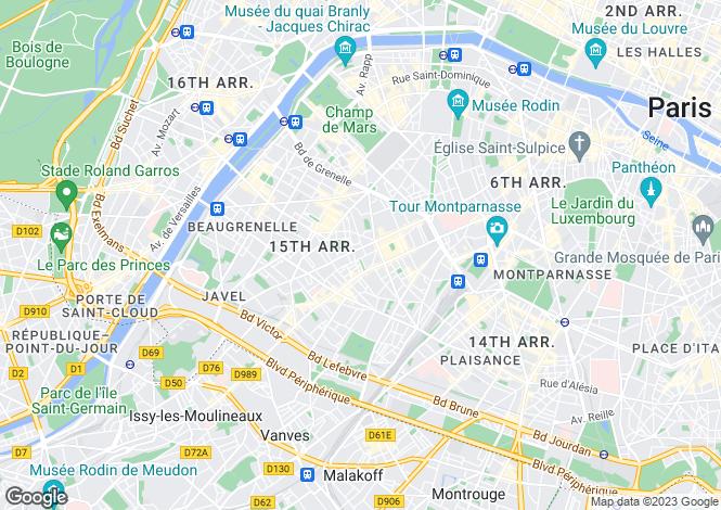 Map for Paris 15 Vaugirard, Île-de-France