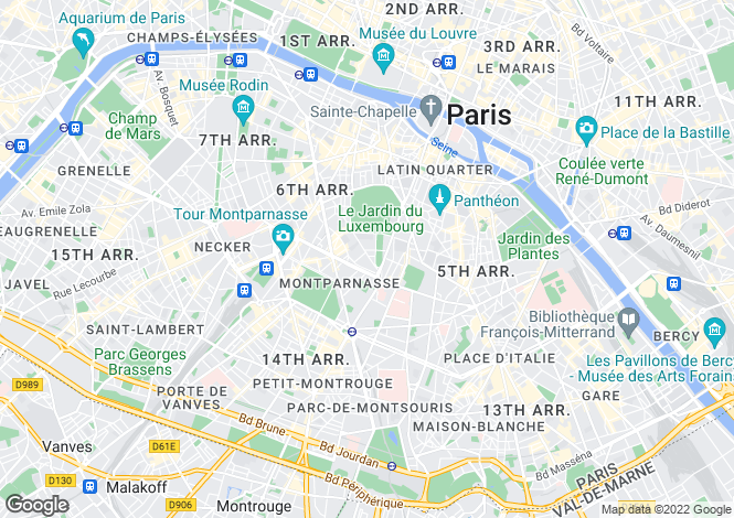 Map for Ecole Alsacienne, Luxembourg, Paris