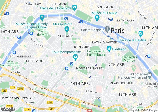 Map for Montparnasse, Paris, 75006