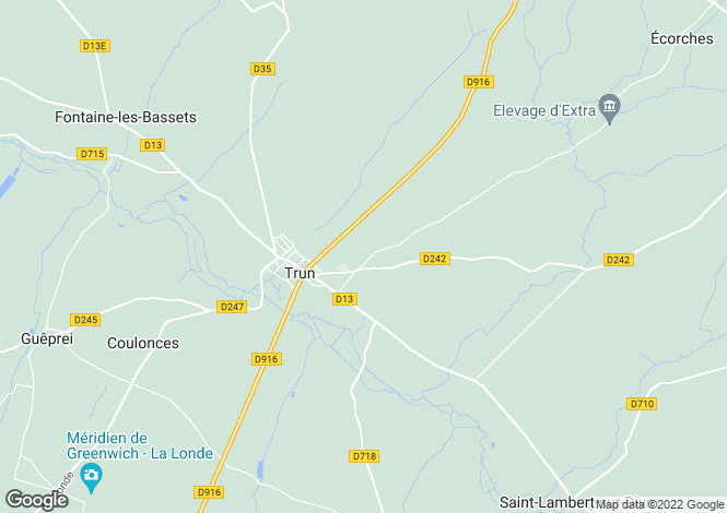 Map for Trun, Orne, 61160, France