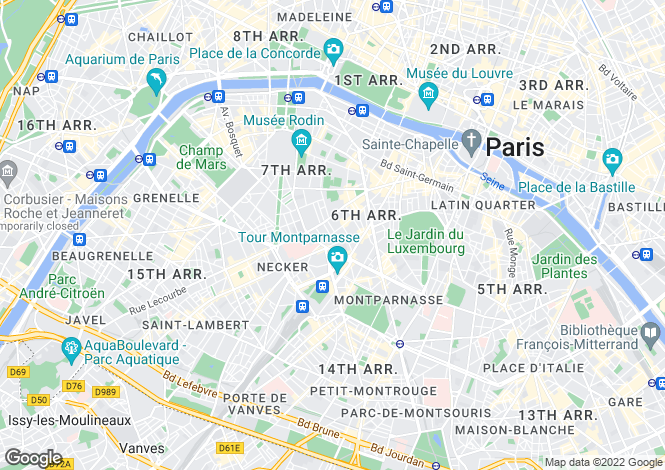 Map for Cherche-Midi, Saint Placide, Paris