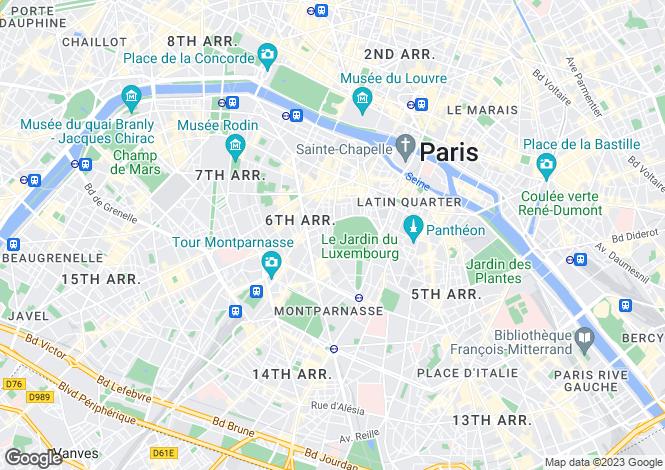 Map for Paris-Isle of France, Paris