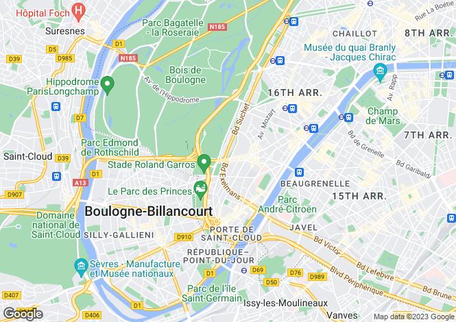 Map for Auteuil, Paris, 75016