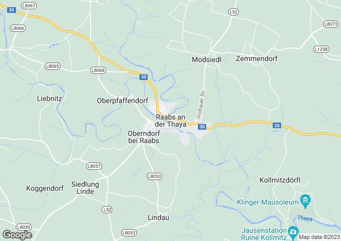 Map for Niederösterreich, Waidhofen an der Thaya, Waidhofen an der Thaya, Austria