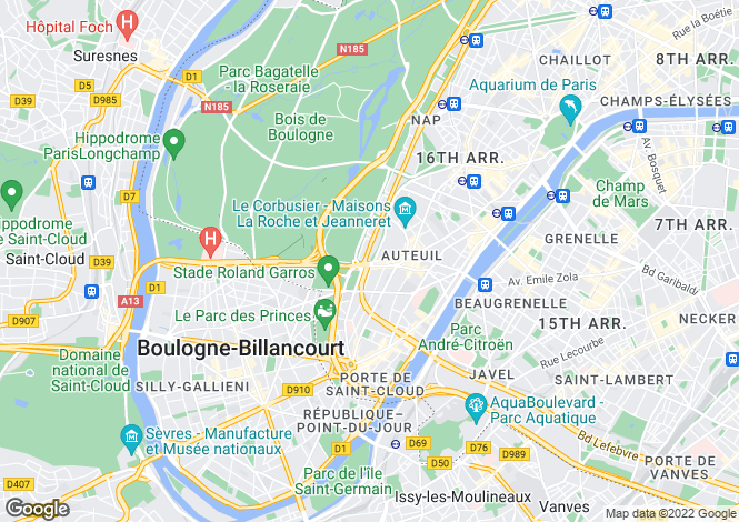 Map for Paris-Isle of France, Paris, Paris 16