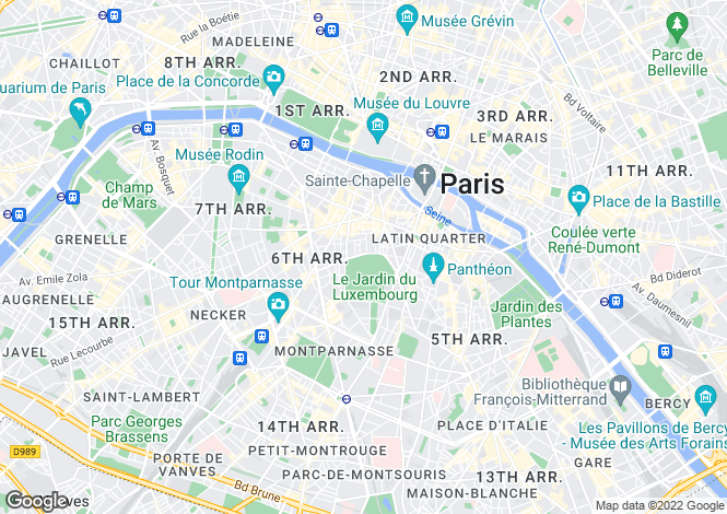 Map for Place Saint Sulpice, Saint Sulpice, Paris