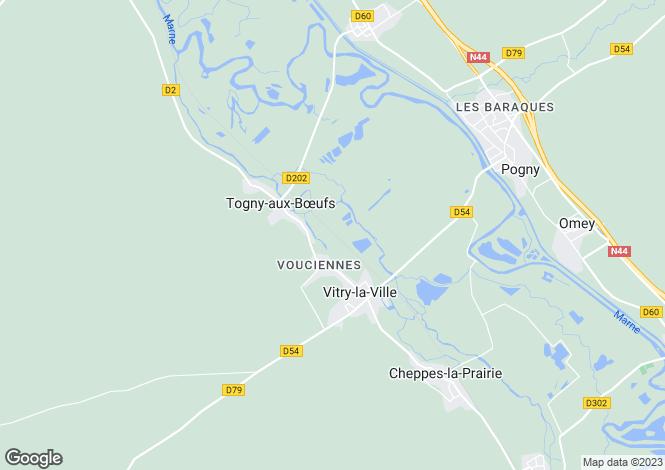 Map for VITRY LA VILLE, Champagne-Ardenne