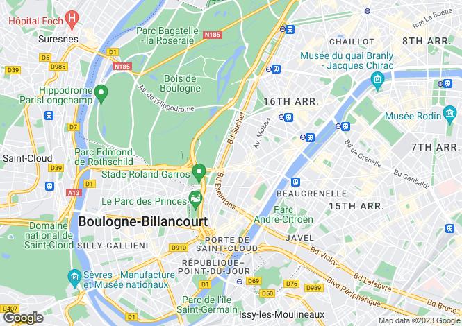 Map for Villa Montmorency, Auteuil, Paris